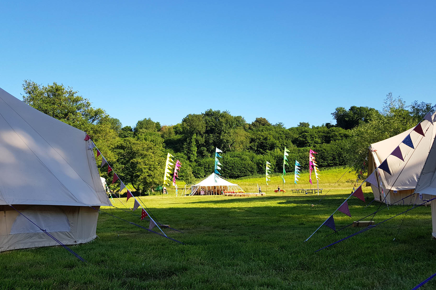 Tipi in a walled garden