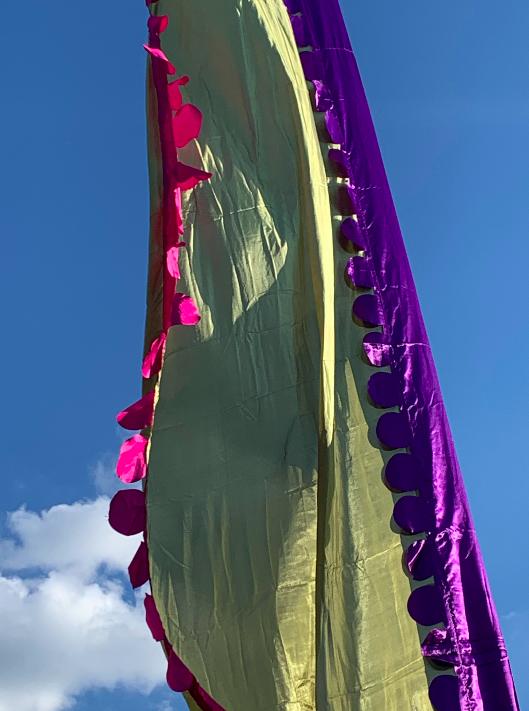 Colourful festival flag