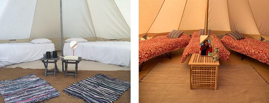 inside bell tents