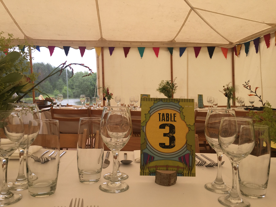 styled marquee with decorated tables