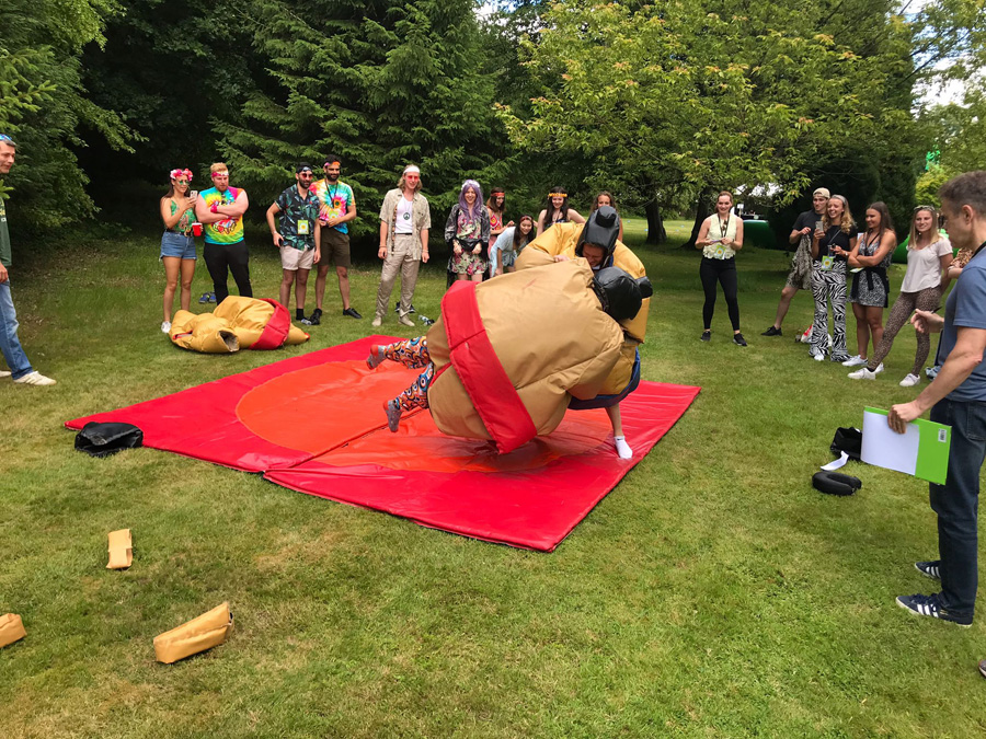 sumo man inflatable game