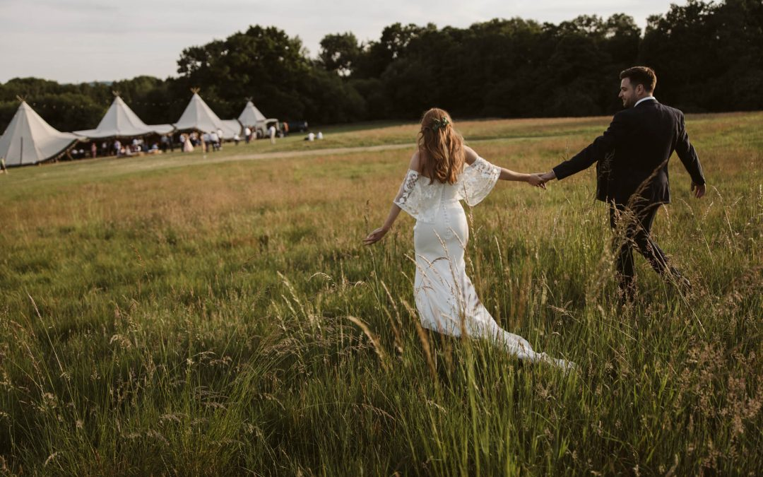 Claire & Nathan's relaxed tipi wedding