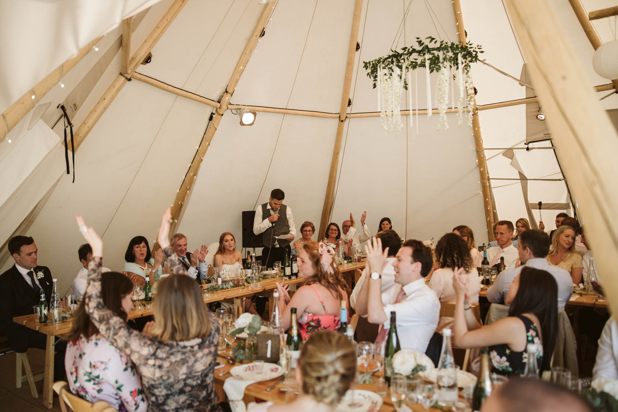 speeches in a wedding tipi
