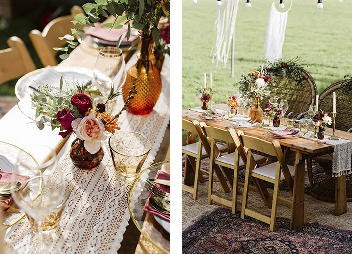 beautiful table set for outdoor dining