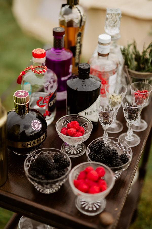 vintage drinks trolley