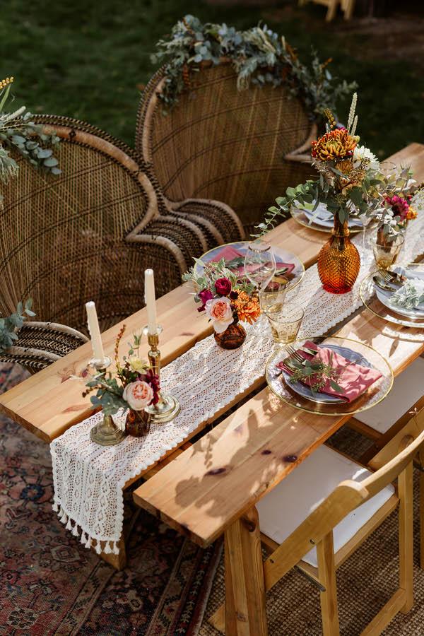 boho styled table setting