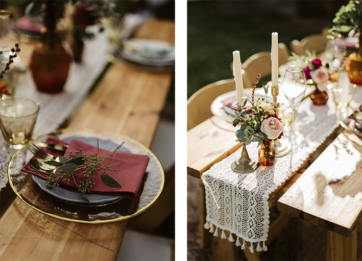 beautiful table set for an intimate wedding