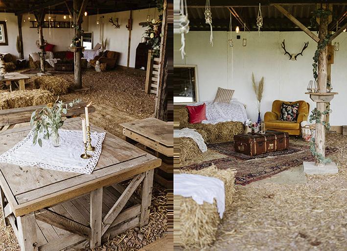 rustic barn styling